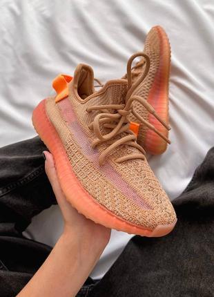 Женские кроссовки adidas yeezy 350 v2 orange / оранжевый1 фото