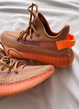 Женские кроссовки adidas yeezy 350 v2 orange / оранжевый4 фото