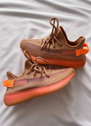 Женские кроссовки adidas yeezy 350 v2 orange / оранжевый10 фото