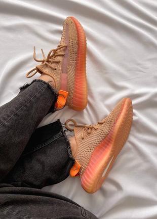 Женские кроссовки adidas yeezy 350 v2 orange / оранжевый6 фото