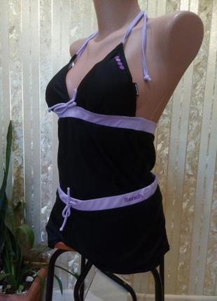 Купальник майка и шорты эластик комплект с шортиками пляжный спортивный оригинал4 фото