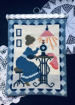 🔥 винтажное 🔥 панно на стену сонетка германия шерсть