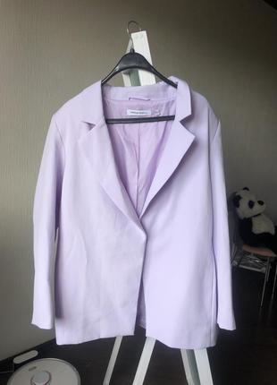 Лиловый пиджак блейзер