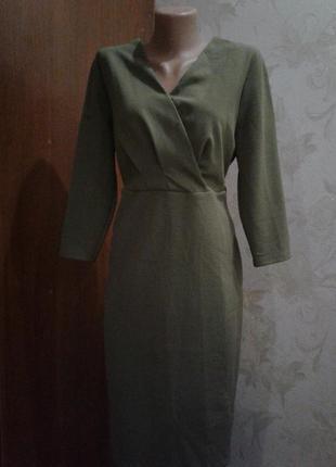 Платье на запах new look большого размера