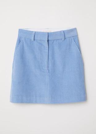Новое вельветовая юбка h&m размер 34