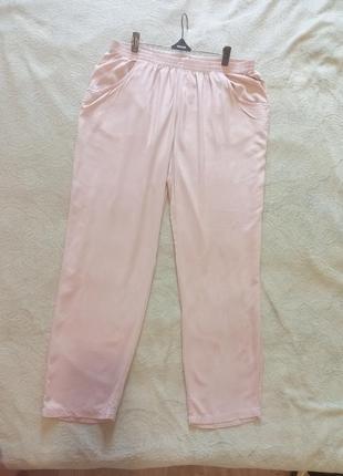 Легкі літні штани великого розміру на резинці