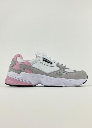 Кроссовки женские adidas falcon white pink biege