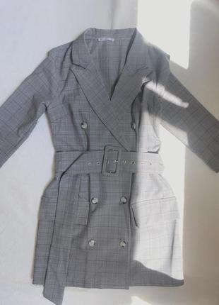 Платье пиджак в клеточку