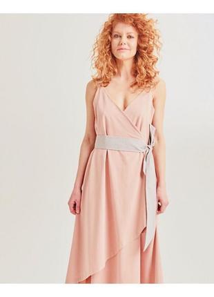 Платье пудровое украинского бренда promin, всі свої греческий стиль
