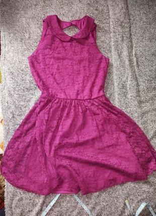 Платье недного малинового цвета