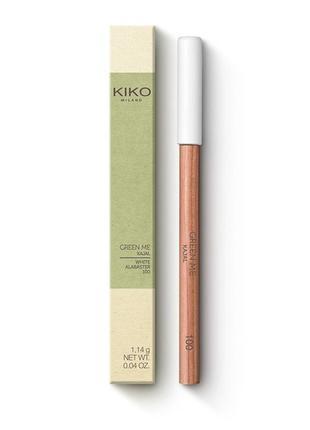 Kiko milano green me kajal кремовый белый карандаш