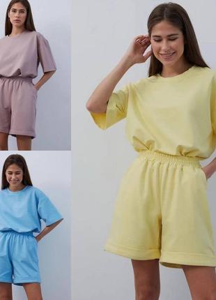 Костюм с шортами , костюм з шортами, бермуты футболка и шорты