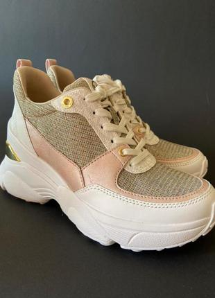 Женские кожаные кроссовки от michael kors