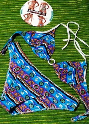 Красивый голубой купальник sanpellegrino. италия. размер итал. 3. наш с/м