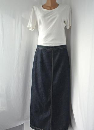 Хит сезона!!!джинсовая длинная юбка laura ashley с разрезом сзади. размер uk16/42 l/xl