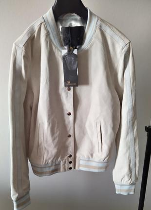 Новая идеальная куртка бомбер голландского бренда goosecraft замша пудра