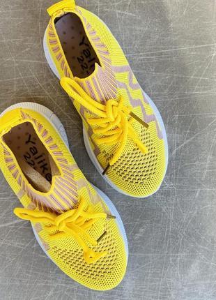 Легкие летние желтые кроссовки/наложка/распродажа3 фото