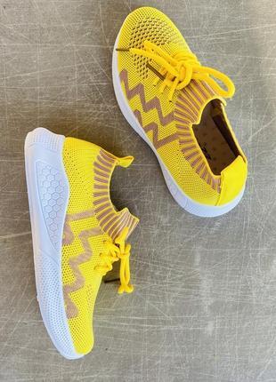 Легкие летние желтые кроссовки/наложка/распродажа5 фото