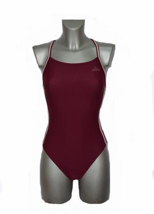 Женский сдельный спортивный купальник adidas.код2680