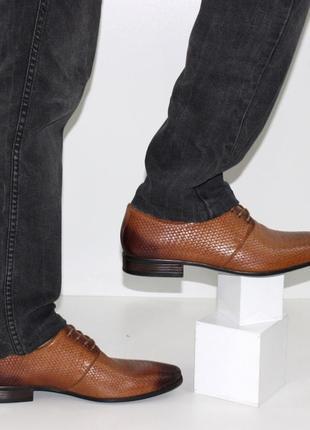 Классические мужские туфли в коричневом цвете c365
