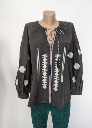Рубашка темно серая вышиванка вишиванка last girl