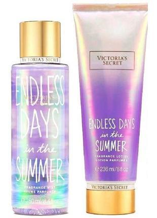 Набір міст и лосьйон для тіла endless days in the summer victoria`s secret