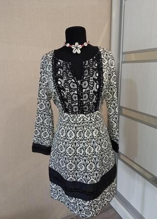 Шикарное платье с кружевом и паетками🖤🤍