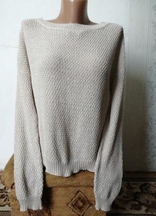 Легкий свитерок, оверсайс, красивая спинка пог-65