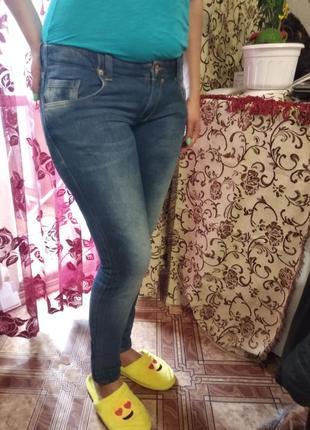 Женские джинсы,бедровка,super skinni fit, м 44