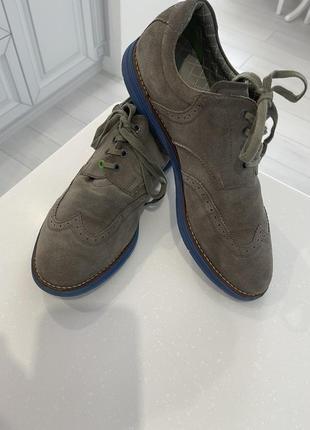 Замшевые туфли boss