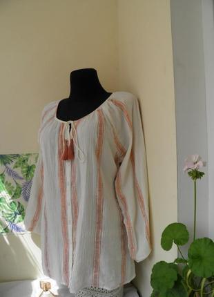 Блузка хлопковая в стиле вышиванки