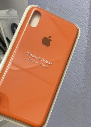 Силиконовый чехол iphone xs max оранжевый