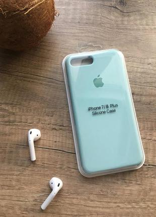 Блакитний чохол на iphone 8 plus/айфон 8+