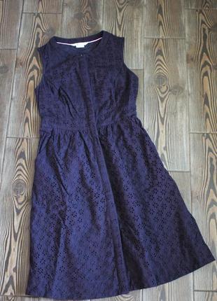 Плаття міді сарафан із прошви на гудзики з кишенями