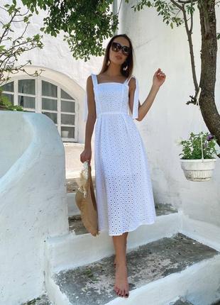 Летнее платье из натуральной прошвы2 фото