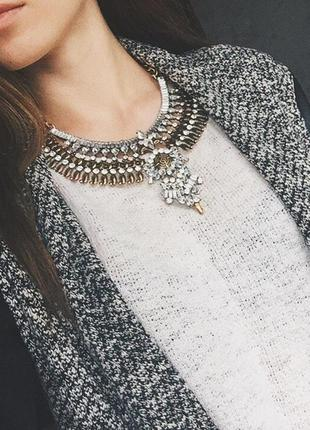Этно-колье,ожерелье,украшение,бижутерия металлическое массивное золото,бохо,богемное
