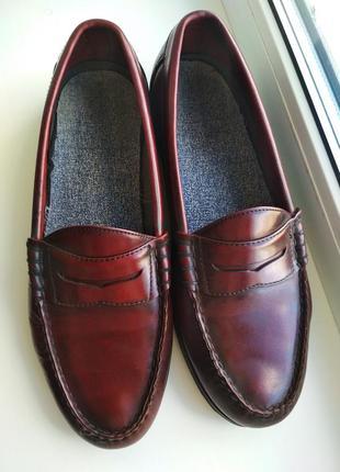 Мужские туфли, мокасины, лоферы, натуральная кожа, р.42, 27 см