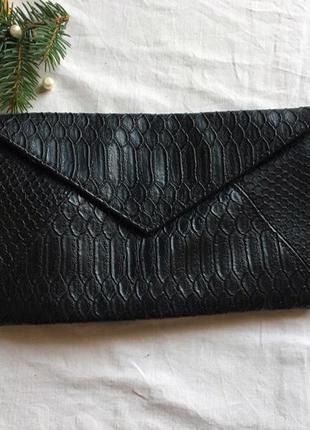 Сумка кожа питона имитация новая клатч конверт от bay