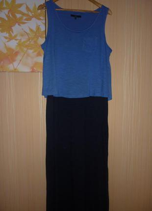 Платье в пол макси длинное большого размера 52