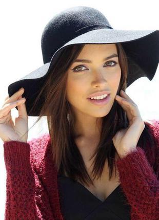Широкополая фетровая шляпа