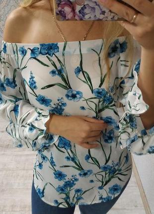 Очень нежная красивая блуза открытые плечи