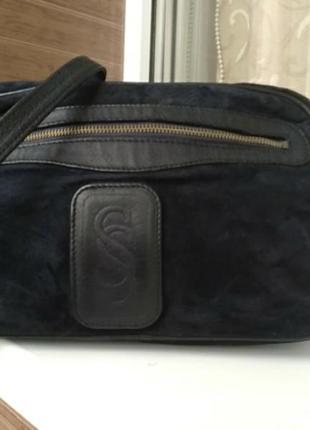 Кожаная сумка на плечр soldano италия