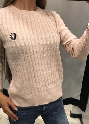 Ангоровый свитерок цвета пудры topshop