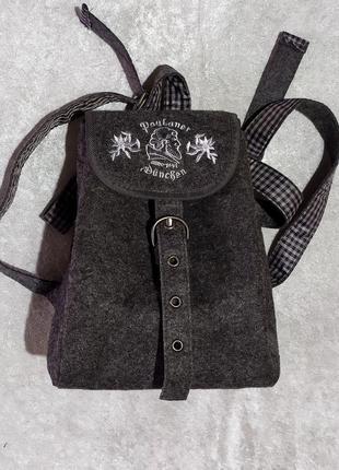 Милый рюкзачок из валяной шерсти