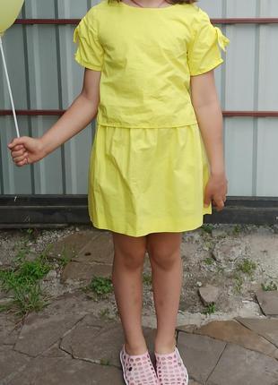 Платье жёлтое zara летнее