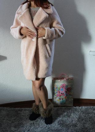 Меховое пальто оверсайз zara3