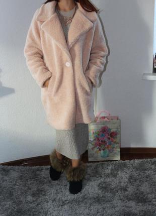 Меховое пальто оверсайз zara2
