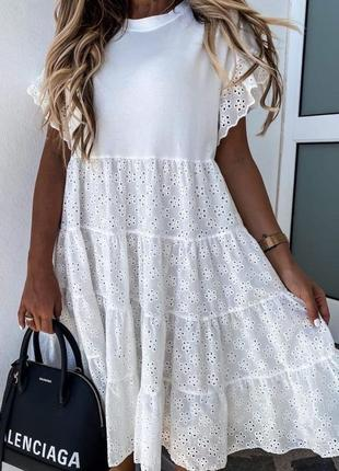 Супер платье из прошвы 48р