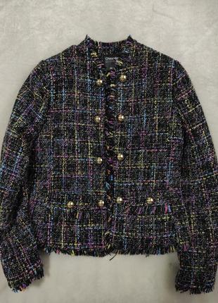 Пиджак жакет блейзер в стиле шанель zara букле