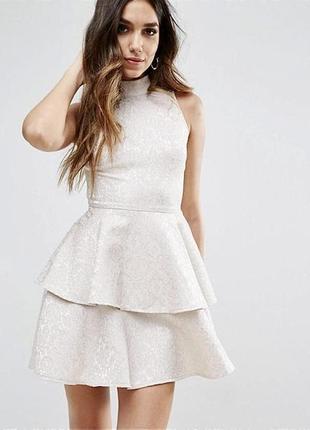 Нарядное ярусное платье!